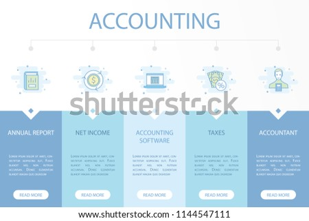accounting web banner infographic concept template stock vector