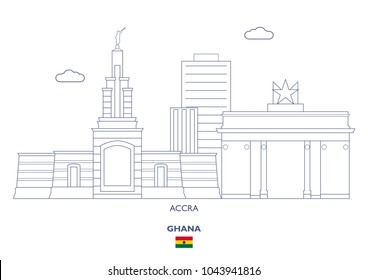 Accra Linear City Skyline, Ghana