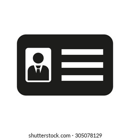 The accreditation icon. Admission and badge, identification, pass,  drivers license symbol. Flat Vector illustration