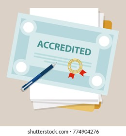 accredited authorized organization business certificate paper with stamp