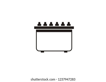 accu/accumulator battery simple icon