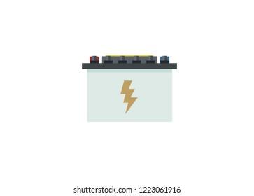 accu/accumulator battery simple illustration