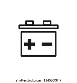 accumulator, energy icon. battery, electricity, electric, equipment, electrical, supply sign, volt, voltage, charge symbol for web and mobile app