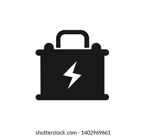 Accumulator Glyph icon,battery icon. Simple sign illustration. Accumulator symbol design. Can be used for web, print and mobile