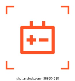 accumulator isolated minimal icon. battery line vector icon for websites and mobile minimalistic flat design.