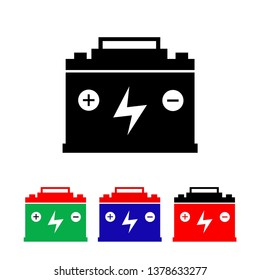 accumulator simple icon, battery symbol illustration vector