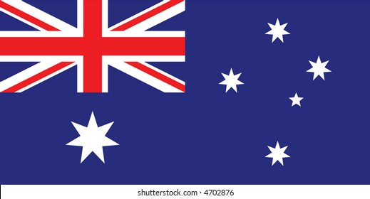 Accurate flag of Australia in terms of colours, size, proportion, and placement of elements