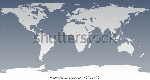 Accurate Map World Includes Antarctica Maps Stock Vector ...