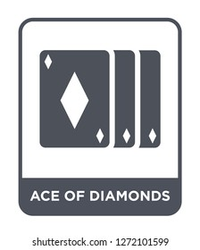 ace of diamonds icon vector on white background, ace of diamonds trendy filled icons from Entertainment and arcade collection, ace of diamonds simple element illustration