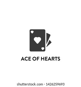 ace of hearts icon vector. ace of hearts vector graphic illustration