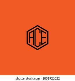 ACE letter icon design on RED background. Creative letter ACE/A C E logo design. AC E initials Logo design