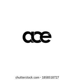 ace letter original monogram logo design