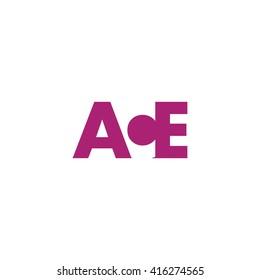 ACE Logo. Vector Graphic Branding Letter Element. White Background