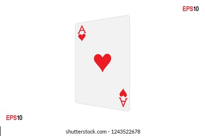 Ace. Poker Card.