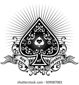 ace of spades with gothic vintage