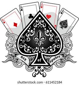 ace of spades grunge vintage design t shirts