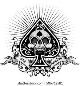 ace of spades, grunge.vintage