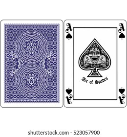 ace of spades with skulls