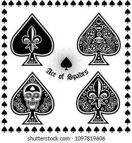 ace of spades with skull-sets