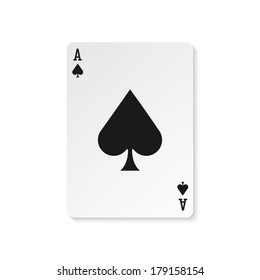 Ace of spades vector illustration isolated
