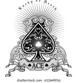 ace of spades, vintage design t shirts