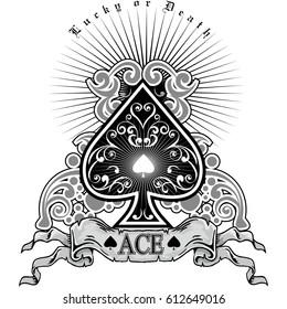 ace of spades, vintage design t shirts