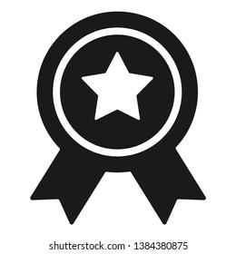 Achievement award vector flat icon