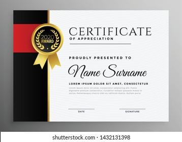 achievement certificate with badge design