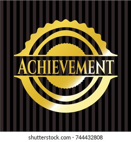 Achievement gold shiny badge