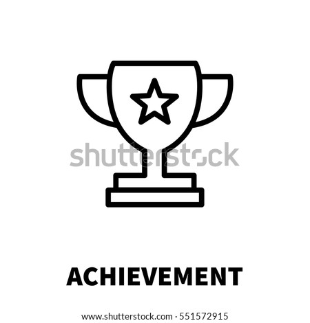 Achievement Logo achievement icon logo modern line style stock vector (royalty free