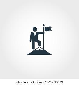 Achievements icon. Creative monochrome Achievements icon for web design, apps, software, printing