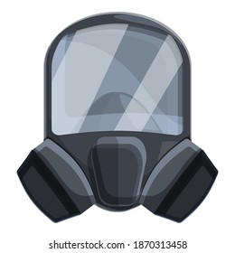 Acid gas mask icon. Cartoon of acid gas mask vector icon for web design isolated on white background