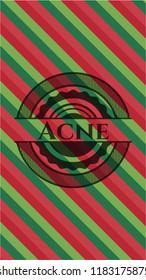 Acne christmas emblem.