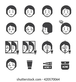 acne icon set