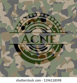Acne on camouflage pattern