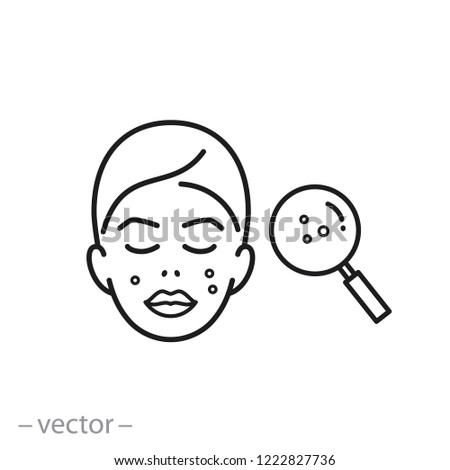 Acne On Skin Icon Problem Skin Stock Vector Royalty Free