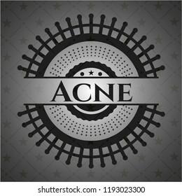Acne realistic black emblem