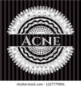 Acne silver emblem