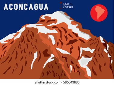 Aconcagua –  the highest mountain in South America