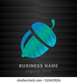 Acorn Blue,Green and Black silk fashion premium icon / Logo