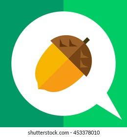 Acorn flat icon