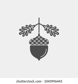 Acorn flat vector icon. Acorn logo. Acorn vector illustration