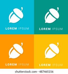 Acorn Four Color Material Designed Icon / Logo