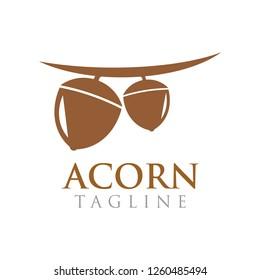 The acorn graphic design template vector illustration