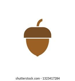 Acorn icon design template vector isolated illustration