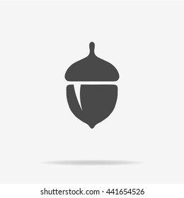 Acorn icon. Vector concept illustration for design.