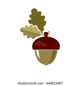 Acorn icon. vector symbol