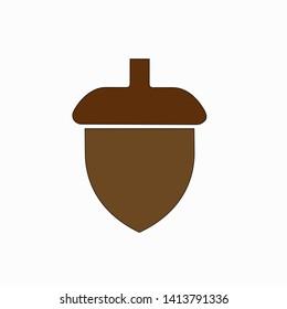 Acorn icon,vector illustration. Flat design style. vector acorn icon illustration isolated on White background, acorn icon Eps10. acorn icons graphic design vector symbols.
