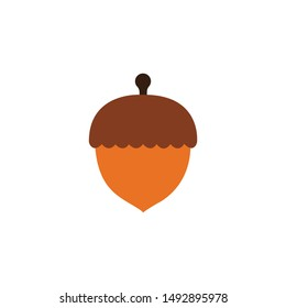 Acorn icon,vector on a white background
