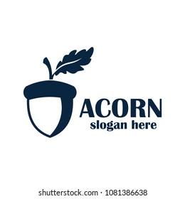 acorn logo design vector